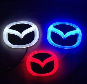 10.1cm * 7.9cm / 12cm * 9.5cm 4D emblema del coche de la luz para Mazda Mazda6 2 3 CX7 CX8 CX 7 8 logotipo de la insignia de los emblemas de la luz