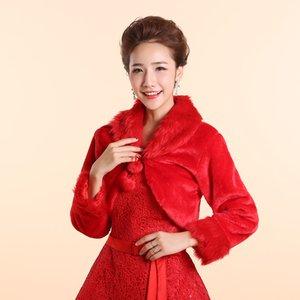코트 웨딩 볼레로 겉옷 웨딩 액세서리 Wrap Bride 공식 겨울 케이프 신부 모피 숄 웨딩 자켓 랩