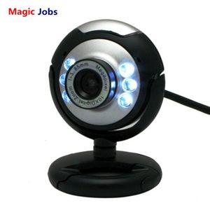 Magic_Jobs USB 웹캠 고화질 12.0 MP 6 LED 야간 조명 웹 카메라 Buit-in PC 데스크탑 노트북 노트북 컴퓨터 용 마이크 클립 캠