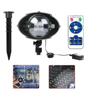 2017 novo projector de luz [ampla cobertura Versão] White Led Snowflake Auto Movendo Projector Luz Interior Natal ao ar livre, Snow-caia Luz