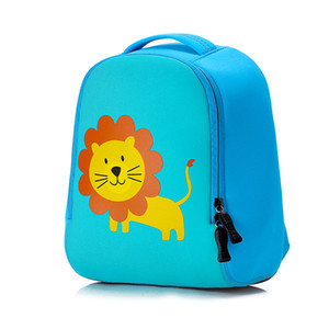 Cute lion Animal Design Toddler Kid  School Bag Kindergarten Cartoon dog backpack Preschool 1-3 years boys girls