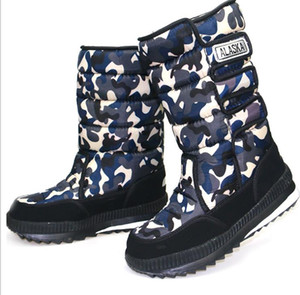 Для женщин мужских ботинок снега большого размера холодного доказательства водонепроницаемой ткань оксфорда унисекса дождь загрузка минус 40 градусов теплой Keep обувь зима zy823