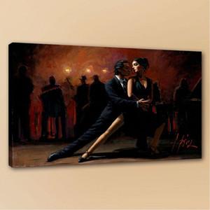 Fabian Perez танго в Буэнос-Айресе высокого качества Hand Painted картины маслом Главная Декор стены Холст Мульти Размеры / p115 Рамка
