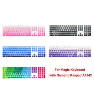 Silikon-Tastatur-Abdeckungs-Tastatur-Schutz für Apple Magic Keyboard mit Ziffernblock A1843 MQ052LL / A im Jahr 2017 freigegeben