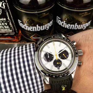 Orologio del quarzo multifunzionale dell'orologio dell'orologio del cronografo multifunzionale del quarzo dell'orologio dei nuovi uomini 2019 trasporto libero