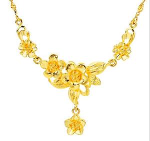 Vietnam Shajin Frau Halskette Hochzeit Nachahmung Gold Farbe Blume Anhänger Euro Münze Halskette Lange Zeitlose Vergoldete Schmuck