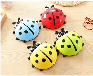 Cute Ladybug Cartoon Sucker Porta spazzolino aspiratori / Articoli per la casa / porta spazzolino / set da bagno spedizione gratuita