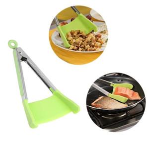 Pinze Clever Pinze da cucina 2 in 1 Pinze per spatola antiaderenti Clip per barbecue Telaio in silicone e lavastoviglie Pinze da cucina di sicurezza Strumenti