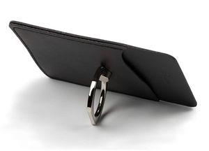 Alta qualidade anel chave logotipo personalizado de metal chaveiro pu design de couro titular do cartão caso de telefone celular tampa do anel titular case para iphone 6 7 8 xs