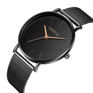 2020 Ultra thin Fashion Male Wristwatches Stainless Steel Watchband Business Watches Men Watch Clock Reloj Hombre Drop Shipping