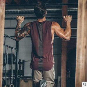 Designer New t-shirts para os homens fortes top mens de alta qualidade roupas de fitness ocasional ginásio tanque dos homens roupas respirável