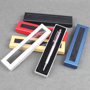 Caixas de papel caixa de caneta caixa de papelão caixa de papelão caixa de embalagem de presente criativo criativo com janela de plástico pvc LX0515