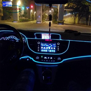 1pcs 1m Flexible EL Wire Noen Light 10 Colors DC 12V Car Interior LED Strip Light Auto DIY Atmosphere Lamp