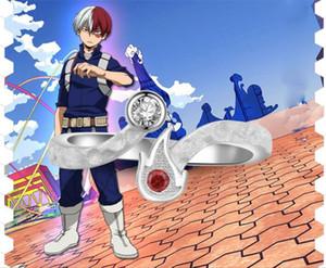 Anime My Hero Academia Todoroki Shoto Ring 925 Silber Cosplay Geschenk Größe 6/7 Ring Halloween Cartoon Ring Weihnachtsgeschenk