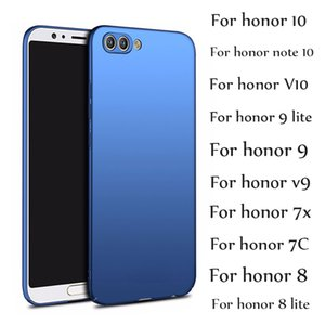 إلى Huawei Honor 10 9 Lite Case Honor Note 10 V10 9 8 Lite 7X Cases Luxury PC رقيقة جدا غطاء صلب ماتي