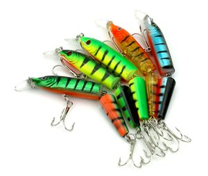 5PCS Fishing Lures Wobbler Fish Topwater Lure Swimbait Crankbait Minnow Artificial Bait With Hooks Carp Pike Bass Fishing 9.6G 10.5CM
