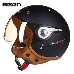 2019 vente chaude moto de course Beon bon casque design vente casco rétro casque de sécurité pour quatre saisons homme et une femme