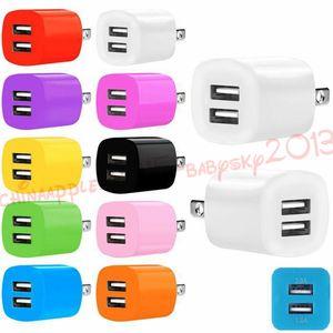 삼성 갤럭시 S4 S6 S7 에지 주 4 5 PC의 MP3를위한 2A + 1A 듀얼 USB 포트 미국 유럽 연합 (EU) 행 홈 여행 벽 충전기 전원 어댑터