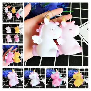 Sevimli Rüya Pony Unicorn At Anahtarlık Charms 4 Styles Karikatür Doll Komik Anime Anahtarlık Yüzük Kız Toptan Promosyon Anahtarlık