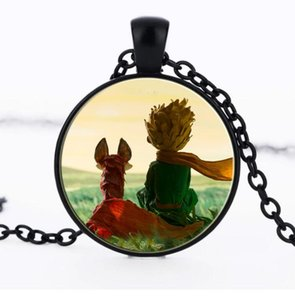 2018.The Little Prince Colgante Time gem The Little Prince Jewelry Regalos para niños Glass Dome Necklace (with chain) EXL582