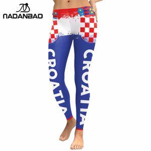 NADANBAO Verão 2018 Mulheres Leggings Cheer Impressão Digital Legging Para Vencedor Calças de Treino de Fitness Legging Impressão
