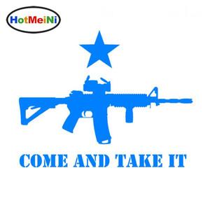 En gros Car Styling Come And Take It AR-15 Pistolet Drapeau Texas Vinyle Autocollants De Voiture Autocollants De Voiture Accessoires Noir / Ruban