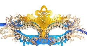Womens Sex Mask Rhinestone Metal Laser-Cut Half Party Mask Masquerade Ball Prom Princess Venetian Cosplay Mask