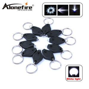 ALONEFIRE 미니 토치 키 체인 링 PK 키 링 화이트 LED 조명 UV LED 라이트 LED 전구 열쇠 고리 손전등