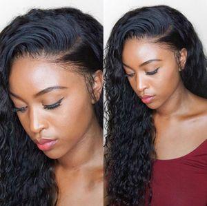 Pelucas delanteras del encaje del cabello humano brasileño para las mujeres WAGE DE AGUA DE ALTA CALIDAD Peluca de encaje sin glorías con pelo de bebé