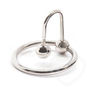 Acciaio inossidabile anelli del pene, uretrali Suoni Perline Plug, gallo anello capo uretrale dilatatore Pene Chastity Belt sesso gioca per l'uomo