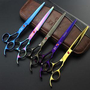 JOEWELL 6.5 inch/ 7.0 inch изогнутые / прямые ножницы для стрижки волос / истончения с 5 различными цветами
