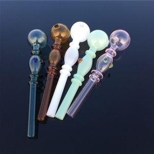 Bang en verre Dab Rig conduites d'eau en verre Pyrex Tubes de brûleurs à mazout Accessoires pour fumer en verre Oil Pipe brûleur