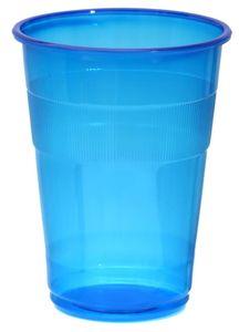 Promoción - Suministros para bodas para fiestas, 9oz / 250ml Blue Famous Service Impact Plastic Cup, 40 / paquete