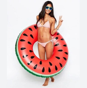 120cm Watermelon swim ring swim pool inflatable floating raft adult leisure water mattress water sports floats beach toy