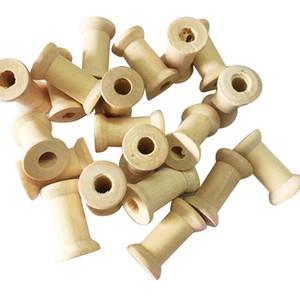 خمر أدوات الخياطة خشبية الخيط مكبات مفاهيم الخياطة للدمى الحلي مهارات الحياة الحرفية اللعب 100 قطعة / الوحدة