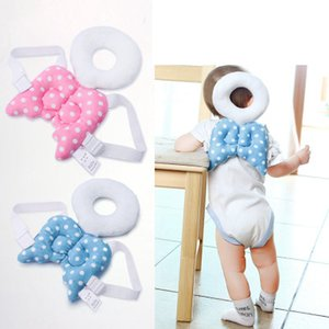 Baby Head Pillow Angel Soft Stuffed Flannel Cover Recovery Pillow Wings Shoulder Backpack Toddler Head Protection Pad Baby Gifts YFA193