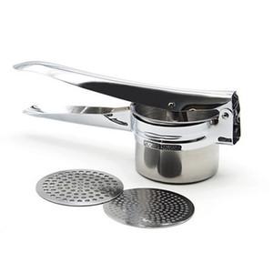 Utensílios de cozinha de aço inoxidável batata triturador de malha removível alimentos Triturator batata alho imprensa cozinha vegetal ferramentas