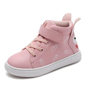 2020 autumn new fashion designer children's shoes heel cute rabbit ears casual shoes wild girls student shoes