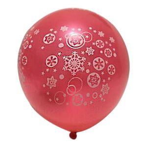 100 PCS De Vacances Fournitures Flocon De Neige De Noël Ballons Carnaval Décorations De Nuit Layout Balloon Décorations De Fête