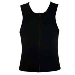 Mens Zipper Neoprene Shaper Slimming Vest Regatas Shapewear Tummy Controle Corpo Shapers Trainer Cinturão Belt Trimmer Compressão