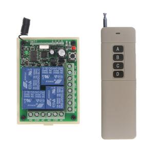 3000m Long DC 12V 24V 4 CH 4CH 10A RF Sistema de interruptor de control remoto inalámbrico, transmisor + Receptor, 315/433 MHz