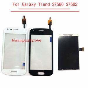 Samsung Galaxy S Duos 2 Trend S7580 S7582 Ekran LCD Ekran Digitizer Sensörü Cam Lens ile Takip İçin ORİJİNAL LCD Dokunmatik