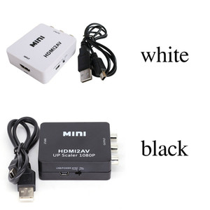 Adaptador de video HD 2018 HDMI2AV 1080P mini HDMI a AV Converter CVBS + L / R HDMI a RCA Para Xbox 360 PS3 PC360 Con embalaje al por menor