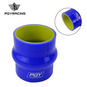 """PQY - Tubo per tubo intermedio in silicone da 64 """"con boccola da 64 mm Intercooler Tubo bluastro PQY-HSH0025-QY"""