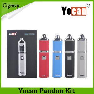 Yocan Pandon Kit QUAD Восковые наборы для ручек вапорайзера 1300mAh Наборы для ручек Vape 2 QDC Напряжение Регулируемые эволюционные катушки Совместимые