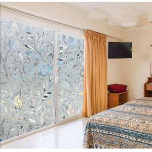 Película de ventana opaca de cristal opaco 45x100cm Película de ventana de cristal manchada decorativa Etiquetas engomadas de cristal de privacidad