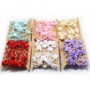 5 m Perle String Rose Fiore Perla Bouquet da sposa Decorazioni di nozze Catena Decorativa Fiori Ghirlande Party Accessori fai da te WX9-420