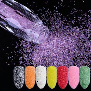 Mini Havyar Boncuk Kristal Minik Rhinestones Cam Mikro Boncuk Çivi DIY Renkli 3D Glitter Nail Art Süslemeleri Için