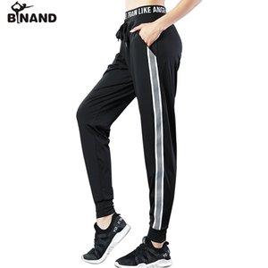 BINAND Kordelzug Bund Seitenstreifen Harlan Hosen Frauen Atmungsaktiv Lose Gym Fitness Training Workout Yoga Sporthose