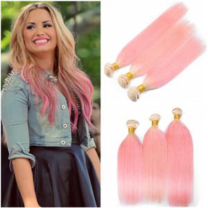 Virgin péruvien # 613 / Pink Ombre cheveux humains tisse des doubles trames 3Pcs soyeux droite blonde et rose Ombre Hair Bundles offres